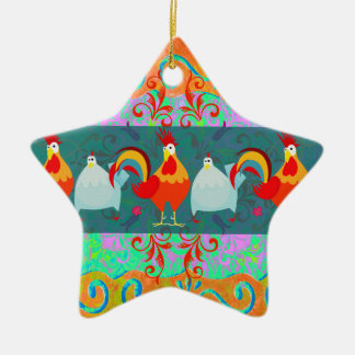 Funny Rooster Hen Funky Chicken Farm Animal Gifts Christmas Ornament