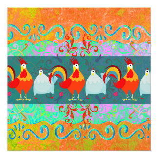Funny Rooster Hen Funky Chicken Farm Animal Gifts Personalized Announcement