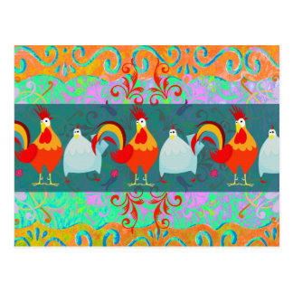 Funny Rooster Hen Funky Chicken Farm Animal Gifts Postcard