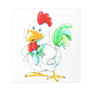 Funny rooster notepad