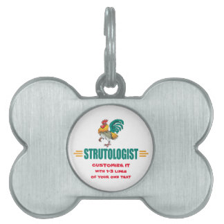 Funny Rooster Pet Name Tag