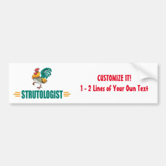 Funny Roosters Bumper Sticker