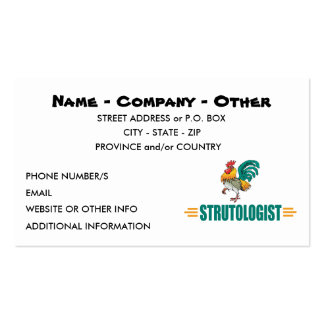 Funny Roosters Business Cards