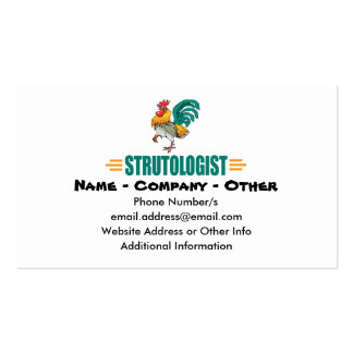 Funny Roosters Business Card