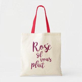 Funny Rosé sil vous plait statement Tote Bag
