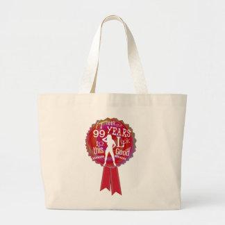 Funny Rosette Happy Birthday Jumbo Tote Bag