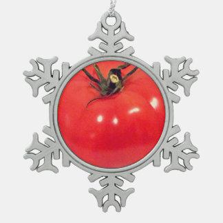 Funny Rosy Tomato 4Ursula Pewter Snowflake Decoration