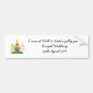 Funny Royal Wedding souvenir car sticker