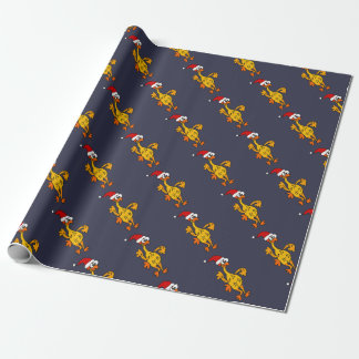Funny Rubber Chicken Christmas Cartoon Wrapping Paper
