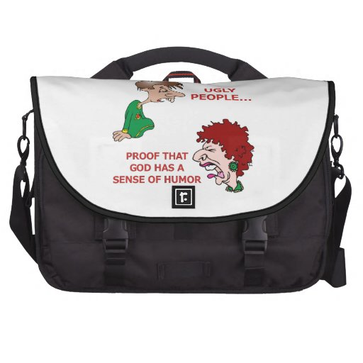 Funny Rude Insulting Ugly People Laptop Commuter Bag