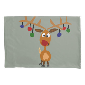 Funny Rudolph Reindeer Christmas Pillowcase