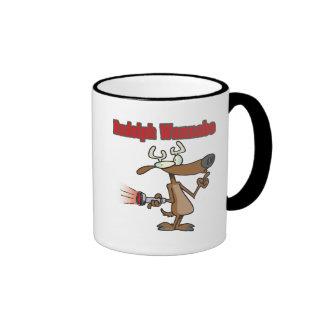 funny rudolph reindeer wannabe coffee mugs