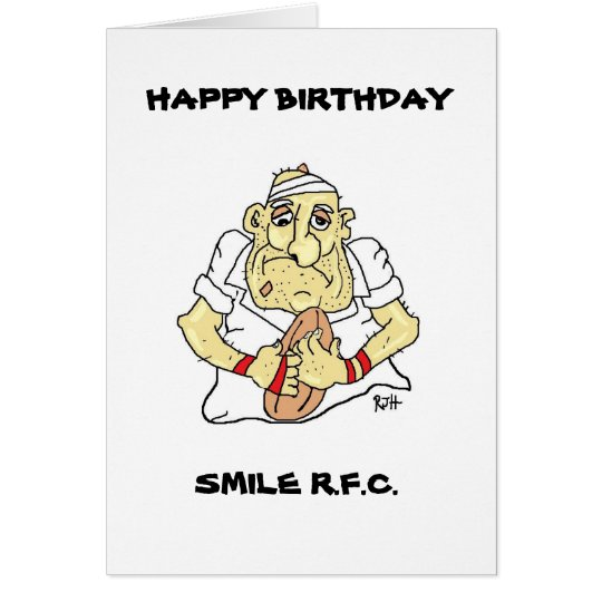FUNNY RUGBY BIRTHDAY CARD