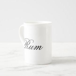 Funny rum hipster humor coffee tea humorous bone china mugs