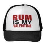 Funny Rum Is My Valentine Anti Valentine's Day Cap