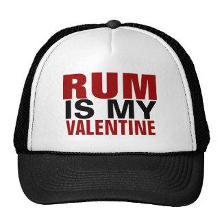 Funny Rum Is My Valentine Anti Valentine's Day Mesh Hats