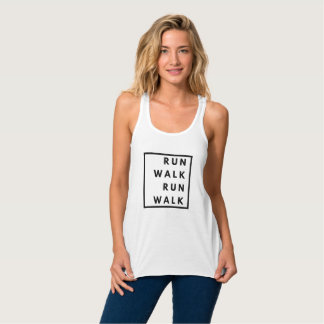 Funny Run Walk Run Walk Tank Top