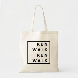 Funny Run Walk Run Walk Tote Bag