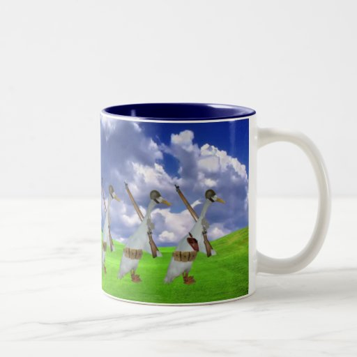 Funny runner duck mug