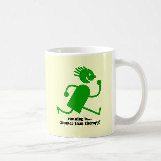 Funny running basic white mug