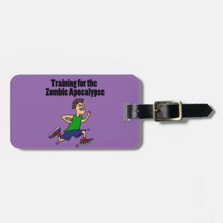 Funny Running Dude Cartoon Luggage Tag