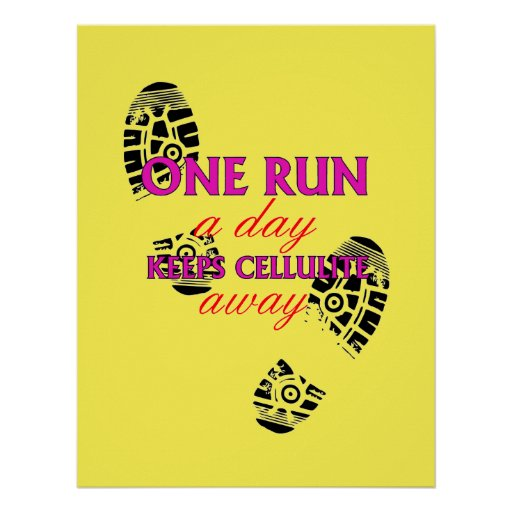 Funny Running Quote - Motivational Fitness Posters | Zazzle