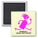 Funny running square magnet
