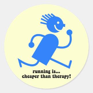 Funny running sticker