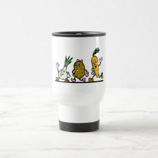 funny running vegetables stainless steel travel mug