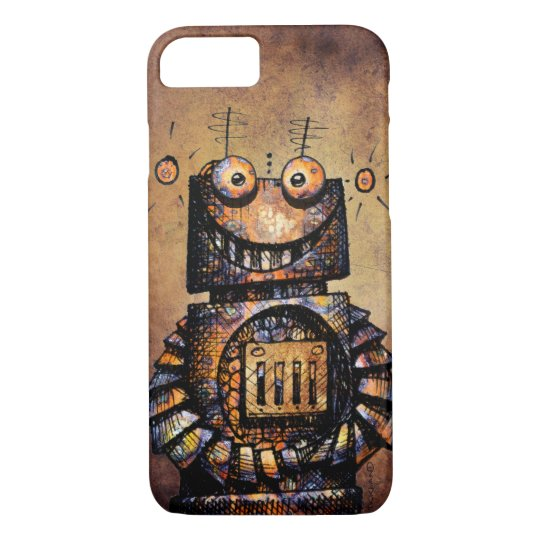 Funny Rusty Steampunk Robot iPhone 7 Case