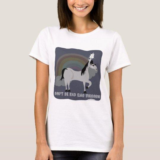 Funny Sad Emo Unicorn T-Shirt