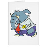 funny sad put on happy face elephant cartoon greeting card