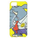 funny sad put on happy face elephant cartoon iPhone 5C cover