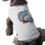 funny sad put on happy face elephant cartoon doggie t-shirt