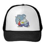 funny sad put on happy face elephant cartoon hat