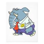 funny sad put on happy face elephant cartoon invite