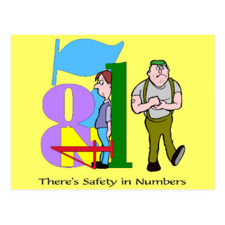 Funny Safety In Numbers T-shirts Gifts Postcard