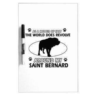funny SAINT BERNARD designs Dry Erase Board