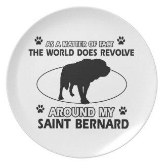 funny SAINT BERNARD designs Plate