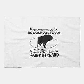 funny SAINT BERNARD designs Tea Towel