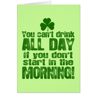 Funny Saint Patrick s Day Beer Greeting Cards