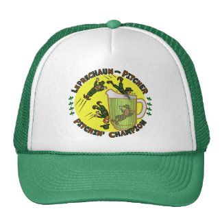 Funny Saint Patrick s Day Leprechaun Pitcher Mesh Hat