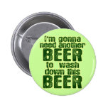 Funny Saint Patrick's Day Beer Button