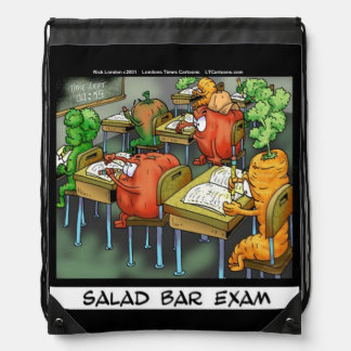 Funny Salad Bar Exam Drawstring Backpack