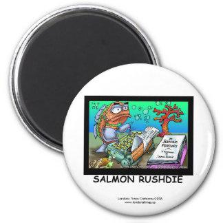 Funny Salman Rushdie Fish Magnet