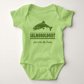 Funny Salmon Fishing SALMONOLOGIST Baby Bodysuit
