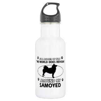 funny SAMOYED designs 532 Ml Water Bottle