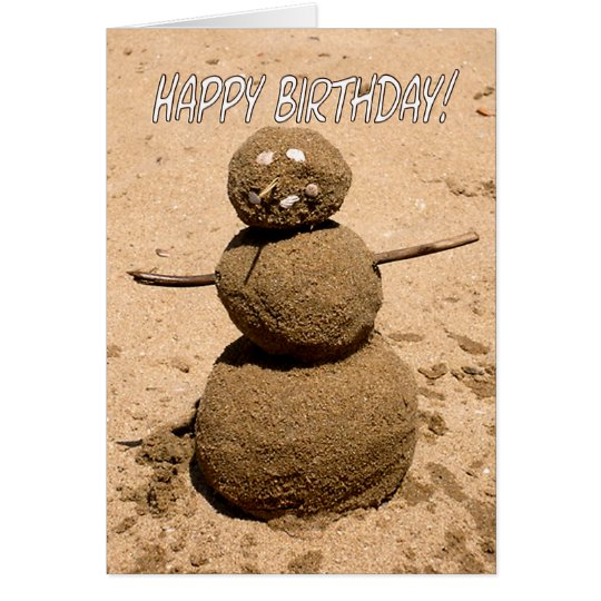 Funny Sand Person - Happy Birthday for Anyone