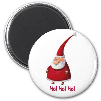 Funny Santa 6 Cm Round Magnet