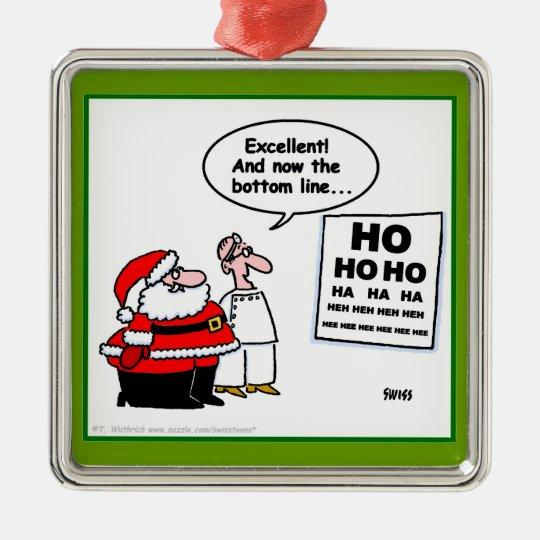 Funny Santa At The Optometrist Christmas Ornament